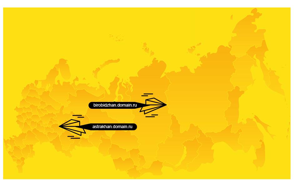 продвижение региональных поддоменов сайта